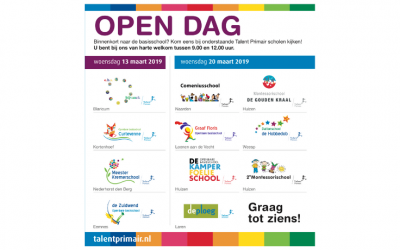 Open dagen bij onze basisscholen: 13 en 20 maart